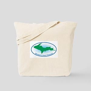 Upper Peninsula Oval Tote Bag