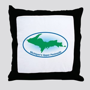 Upper Peninsula Oval Throw Pillow
