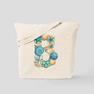 BEACH THEME INITIAL B Tote Bag