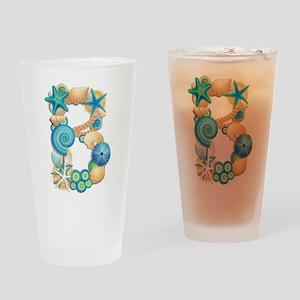 BEACH THEME INITIAL B Drinking Glass
