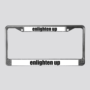 Enlighten Up License Plate Frame