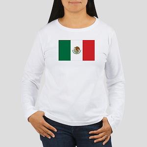 Mexican Flag Women's Long Sleeve T-Shirt