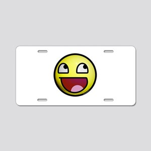 Epic Smiley Aluminum License Plate