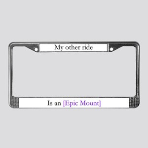Epic Mount License Plate Frame
