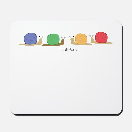 snail party Mousepad