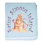 Saint Simons Island baby blanket