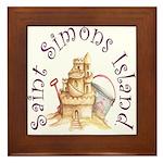 Saint Simons Island Framed Tile