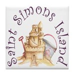 Saint Simons Island Tile Coaster