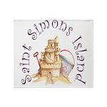 Saint Simons Island Throw Blanket