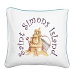 Saint Simons Island Square Canvas Pillow