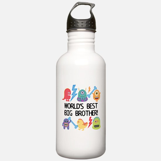 Monsters World's Best Big Brother Water Bottle