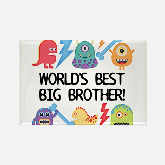 Monsters World's Best Big Brother Rectangle Magnet