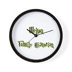 Melton Family Historian Wall Clock