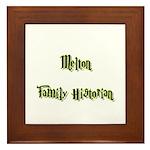 Melton Family Historian Framed Tile
