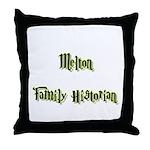 Melton Family Historian  Throw Pillow