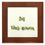 Ball Family Historian Framed Tile
