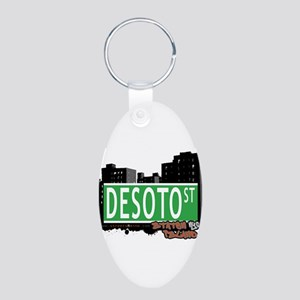 New Section Aluminum Oval Keychain