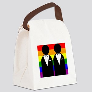 Two Grooms Canvas Lunch Bag
