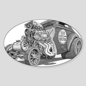 Old School Gasser Oval Sticker