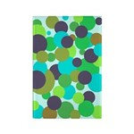 Retro Dots II Rectangle Magnet (100 pack)