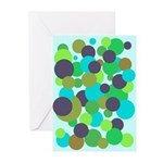 Retro Dots II Greeting Cards (10 Pk)