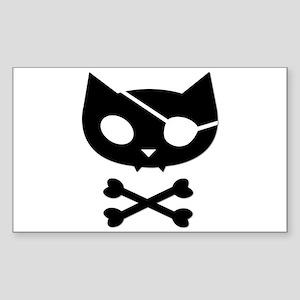 Pirate Kitty Sticker (Rectangular)
