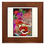 Dragon-Claus Framed Tile