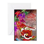 Dragon-Claus Greeting Cards (Pk of 10)