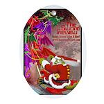 Dragon-Claus Oval Ornament