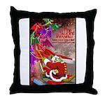 Dragon-Claus Throw Pillow