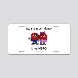 """My Heros"" Aluminum License Plate"