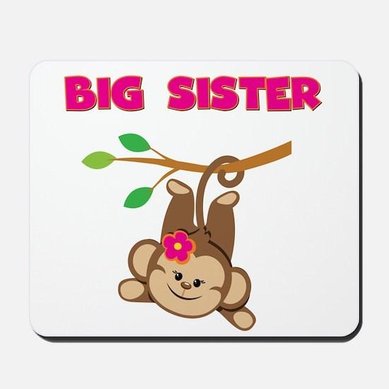 Swinging Monkey Big Sister Mousepad