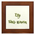 Earp Family Historian Framed Tile