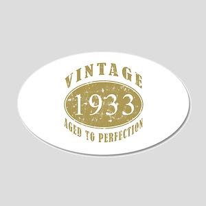 1933 Birthday Vintage 20x12 Oval Wall Decal