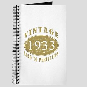 1933 Birthday Vintage Journal