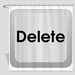 Delete Button Computer Key Shower Curtain