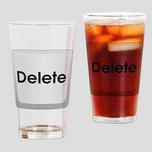 Delete Button Computer Key Drinking Glass