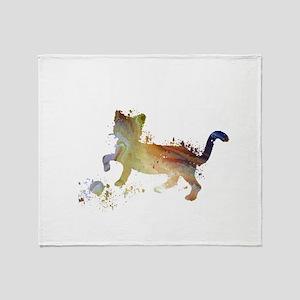 Cat art Throw Blanket