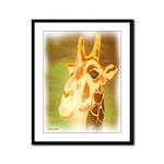 Henri The Giraffe Framed Panel Print