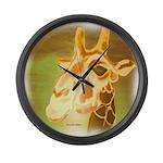 Henri The Giraffe Large Wall Clock