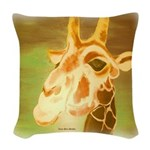 Henri The Giraffe Woven Throw Pillow