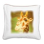 Henri The Giraffe Square Canvas Pillow
