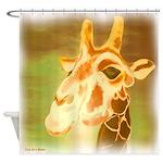 Henri The Giraffe Shower Curtain
