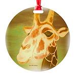 Henri The Giraffe Round Ornament