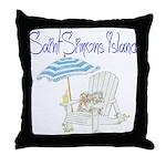 SSI Beach Chair Throw Pillow
