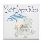 SSI Beach Chair Tile Coaster
