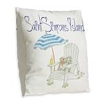 SSI Beach Chair Burlap Throw Pillow