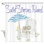 SSI Beach Chair Shower Curtain