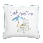 SSI Beach Chair Square Canvas Pillow