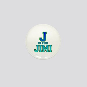 J is for Jimi Mini Button